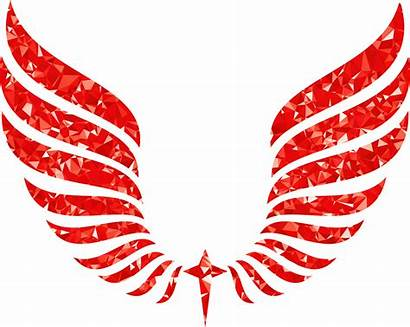 Wings Wing Clipart Abstract Ruby Transparent Asas