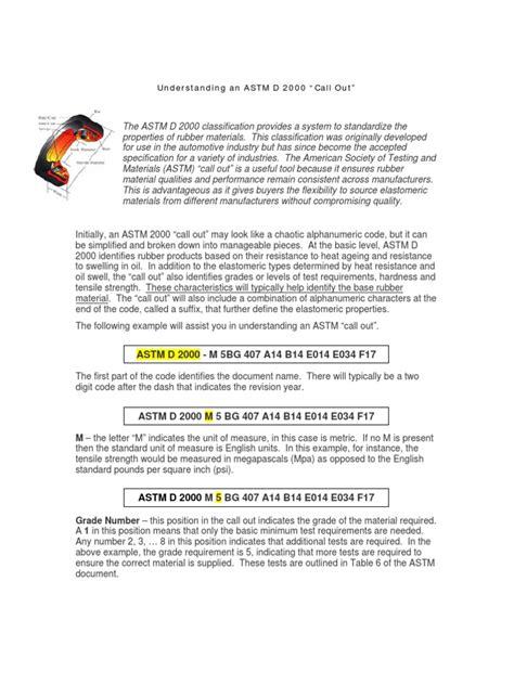 Understanding ASTM D 2000 | Ultimate Tensile Strength