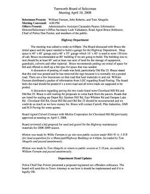fillable  tamworth board  selectman