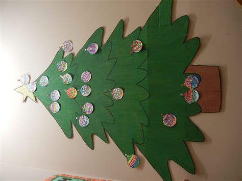 paper christmas tree bulletin board your space come to when one teaches two learn