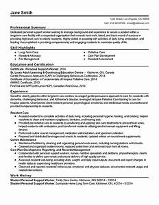 professional personal support worker templates to showcase With sample resume for personal care worker