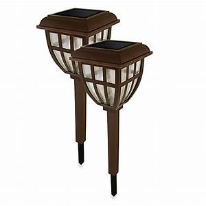 nature power lifetime series solar garden lantern lights With outdoor patio lights bed bath and beyond