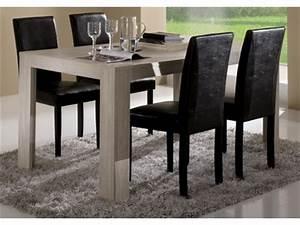 Table Chene Blanchi : meubles tables repas ~ Teatrodelosmanantiales.com Idées de Décoration