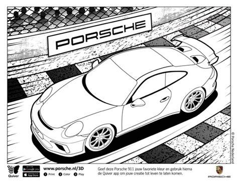 3d Kleurplaat App scoop porsche lekt de gefacelifte 911 gt3 met kleurplaat