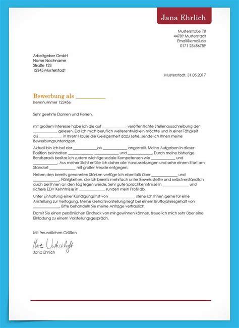 Vorlage Bewerbungsschreiben by Bewerbungsvorlagen Kostenlos Herunterladen Bewerbung Net