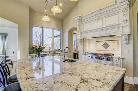 kitchen island cost snowfall granite countertop kitchen displays snowfall