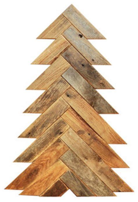 herringbone wood slat christmas tree