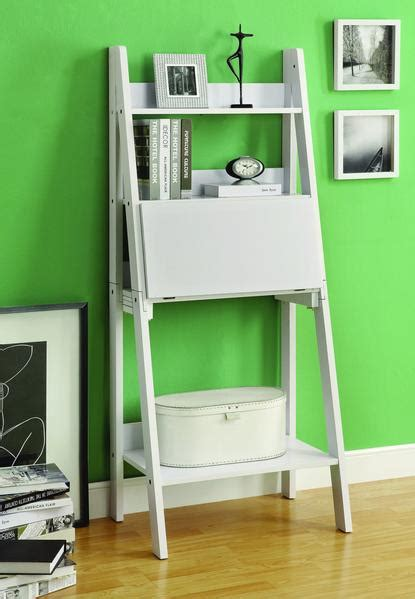 modern white ladder desk bookcase combination  flip
