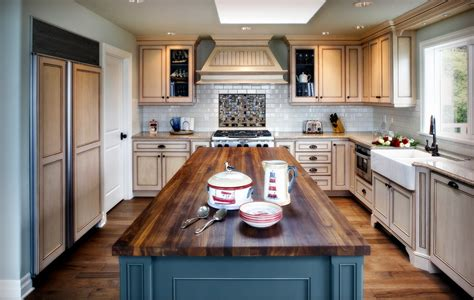 blue countertop kitchen ideas inspired butcher block countertop vogue other metro beach style kitchen remodeling ideas with
