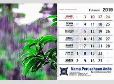 Template Kalender 2019 Free Download Tema Hujan PDF Jpg