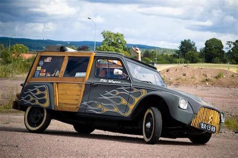 insolite citroen acadyane woody custom