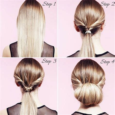 How To Do Hairstyles by Easy Hairstyles How To Do A Twisted Bun Up Do Step