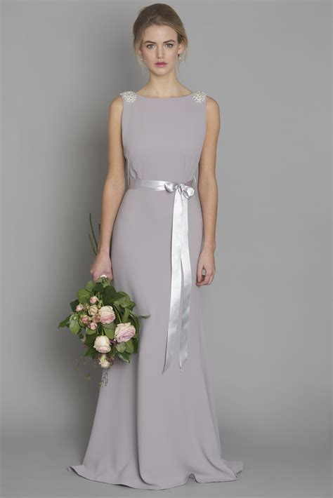 light gray bridesmaid dress light grey style dc1181 bridesmaid evening debs