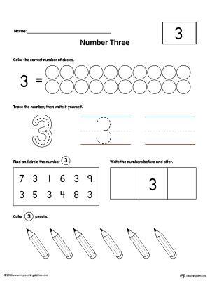 number 3 practice worksheet myteachingstation