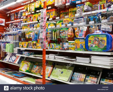 Office Supplies Nyc by Displays In Staples Store Nyc Stock Photo Royalty Free