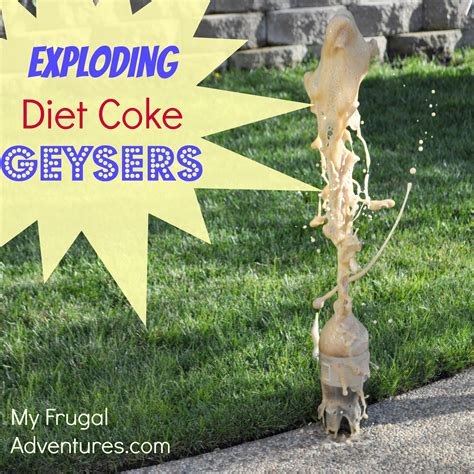 Exploding Diet Soda Geyser Fun Kids Activity My