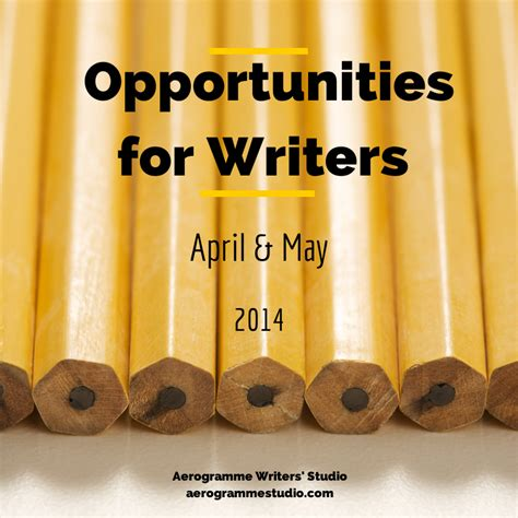 Opportunities For Writers April And May 2014  Aerogramme Writers' Studio