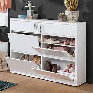 Schuhschrank Weiß Holz : schuhschrank wei m bel rundel ~ Markanthonyermac.com Haus und Dekorationen