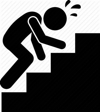 Icon Exhausted Tired Climbing Stairs Vectorified