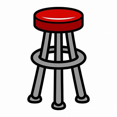 Stool Chair Illustration Furniture Seating Vector Clipart