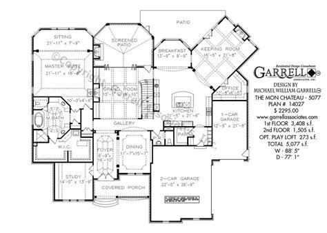 chateau floor plans mon chateau house plan house plans by garrell associates