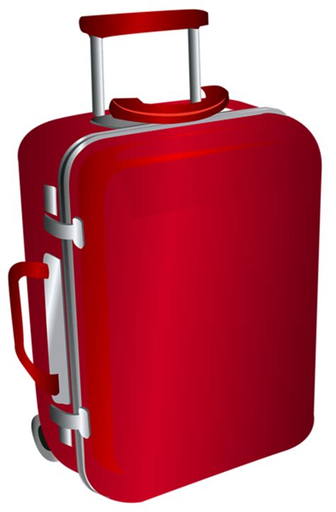 red trolley travel bag png clipart image gallery