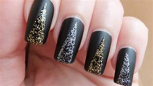 Exquisite black prom nails nail design ideaz