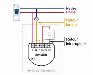 dimmer With couleur fil de phase