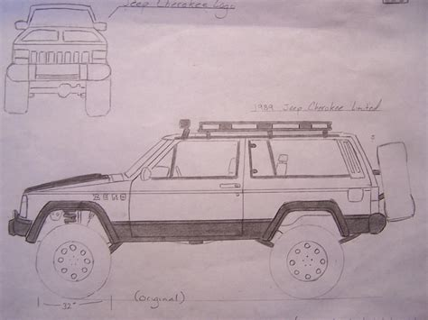 lifted jeep drawing cherokee sketches jeep cherokee forum