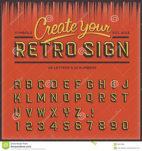 retro type font vintage typography royalty free stock photos image 33273998
