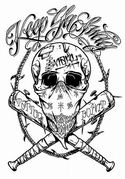 Skull Tattoo Bandana Crazy Drawings Tattoos Drawing