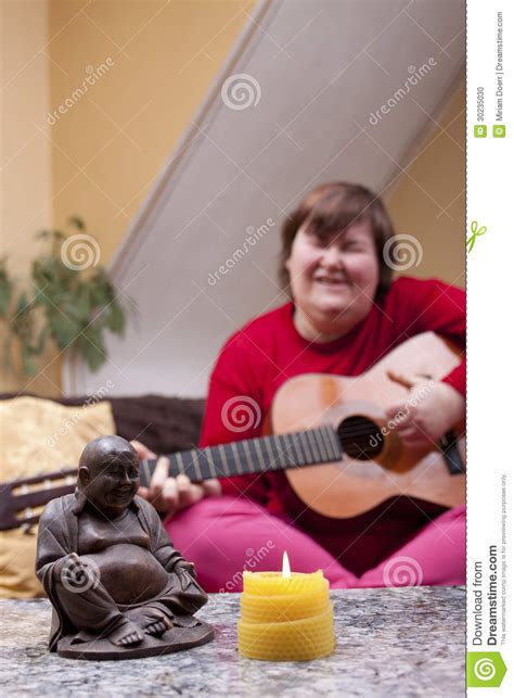 disabled woman experiences   therapy stock photo
