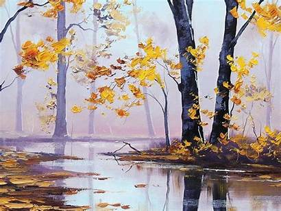 Oil Painting Wallpapers Desktop Autumn Background Paintings