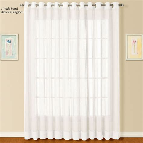 sheer curtain panels with grommets dakota wide sheer grommet curtain panel