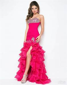 Hot Pink Prom Dresses With Diamonds | want | Pinterest ...