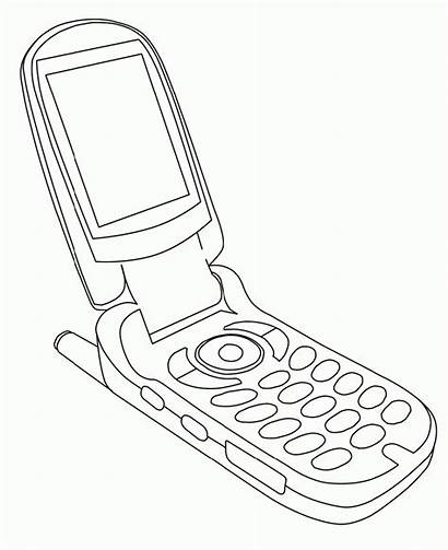 Phone Cell Coloring Printable K5 Worksheets Azcoloring