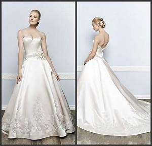 fashion ivory wedding dresses 2016 applique handmade With flower applique wedding dress