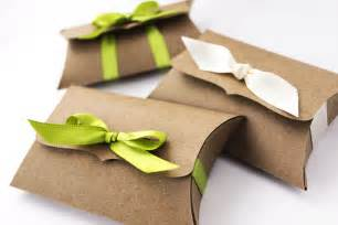 wedding favor boxes wholesale kraft pillow boxes 10 medium ribbon tie gift card holder