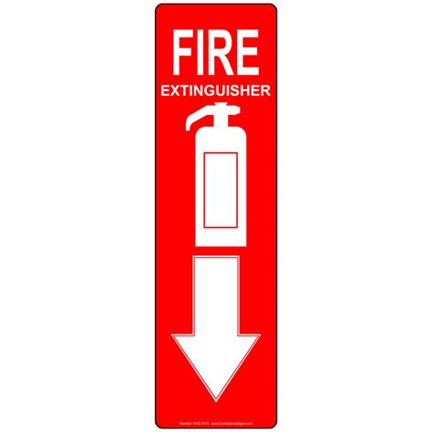 fire extinguisher sign nhe 7475 fire safety equipment