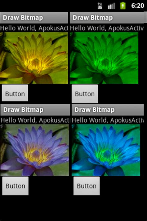 hue saturation color colored filtering bitmap image