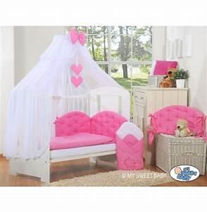 parure lit bebe pas cher rose framboise 393 5pcs pour With déco chambre bébé pas cher avec parure lit fleurs