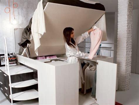 genius space saving bed design   walk  closet