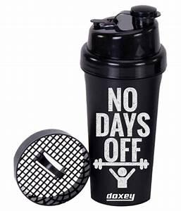 Doxey Black Shaker Bottle Gym Accessories   Gym Essentials  Buy Online At Best Price On Snapdeal