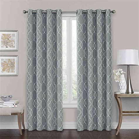bed bath and beyond blackout drapes brent grommet 100 blackout window curtain panel bed