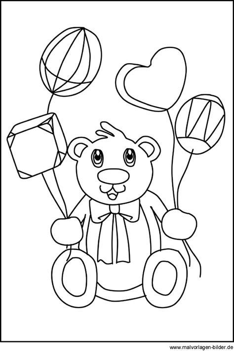 teddybaer kostenlose malvorlagen und ausmalbilder