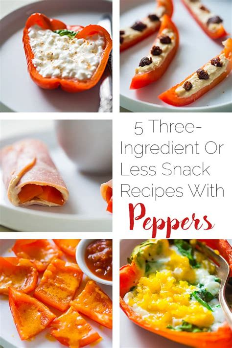healthy snack recipes with peppers food faith fitness