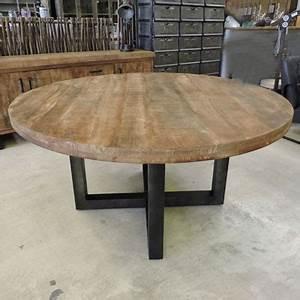 Table Basse Ronde Bois Metal : les tables ~ Teatrodelosmanantiales.com Idées de Décoration