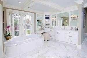 White/Off White Bathroom Cabinetry - Traditional