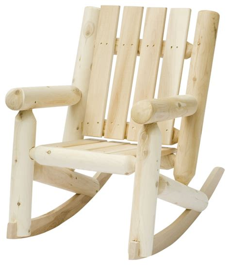 rustic cedar 01005jr log jr porch rocker rustic
