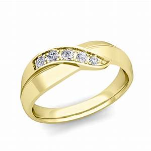 his and her matching wedding bands 14k gold infinity With infinity wedding ring gold